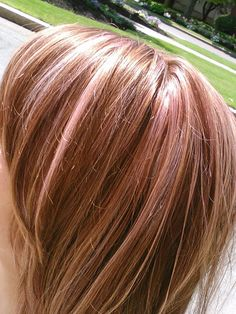 baby pink highlights