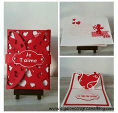 Réalisez une carte avec un coeur en relief pour la St Valentin : Mélanie B