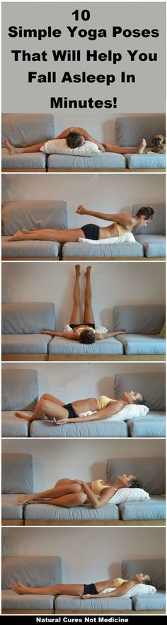 10 Simple Yoga Poses That Will Help You Fall Asleep In Minutes!