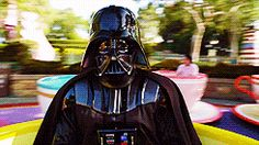 Darth Vader actually looks on the Bright Side, but don't tell anyone.  (Click to view)