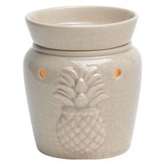 Welcome Mid-Size Scentsy Warmer Graciously invite friends and family into your home with a pineapple—the traditional symbol of hospitality—in an embossed design with a high-gloss crackle finish in antique white. Wax Warmer, My Living Room, Scentsy, Favorite Holiday, Scented Candles, Fragrance, Vapo Rub, Antiques, Invite Friends