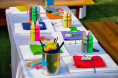 Amazing Artist paint tables by @Fantasyparty