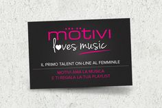 @Motivi e @SonyMusicItaly insieme per il primo talent online al femminile, madrina @Alessandra Amoroso. Segui #motivilovesmusic - http://www.motivi.com/it/motivi-loves-music