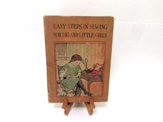 Rare Antique Book 1913  Easy Steps In Sewing by CreekLifeTreasures #vintage #sewing #epsteam
