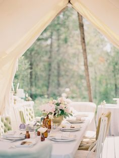 Tented Reception | Montana Elopement from Jeremiah and Rachel Photography