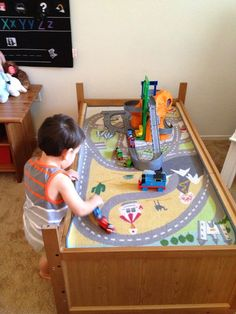 Munchkins and Moms: Toddler Bed to Train Table (in less than 5 minutes!)