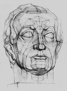 Рисунок гипсовой головы.мастерская MunArtIZO