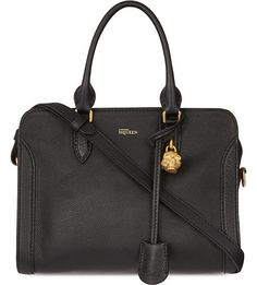 ALEXANDER MCQUEEN Padlock leather cross-body bag (Black