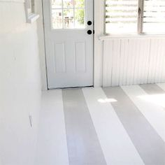 Detailed instructions on how to achieve a perfectly striped floor.