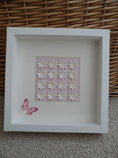 'The Daisy Patch' in square box frame. Can be made in a colour scheme to suit you. Frame size: 25cm x 25cm Frame Choice: Black or White Available at: www.facebook.com/thedaisypatchshop