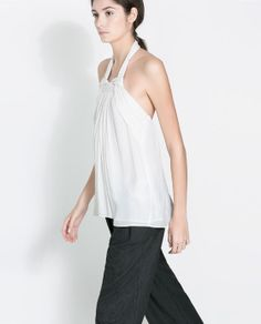 TOP WITH KNOTTED STRAP from Zara