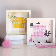 Cadre vitrine a offrir pour une naissance, anniversaire...personnalisable. littlebelette.fr