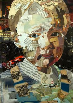 The kind of exclusive collage portrait art works we are going to be depicting here will have a theme within a theme. Like for instance, you can use bits and pieces Collage Kunst, Art Du Collage, Collage Artists, Dada Collage, Paper Collages, Collage Art Mixed Media, Collage Making, Painting Collage, L'art Du Portrait