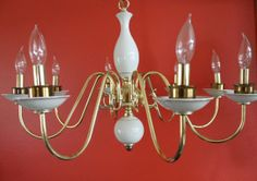 Large Colonial Brass Chandelier by CaliforniaPicks on Etsy, $119.00