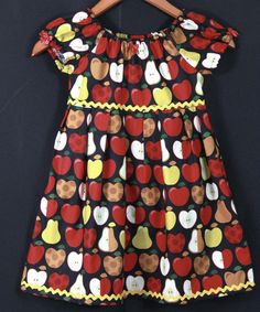 Ruby may need an apple themed dress if we go apple picking :) Little Girl Dresses, Little Girls, Girls Dresses, Cute Outfits For Kids, Cute Kids, Apple Back To School, Apple Farm, Girly Things, Girly Stuff
