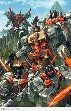cartoons artwork Dinobots coloured by *markerguru on deviantART - Transformers Autobot Optimus Prime Transformers, Transformers Generation 1, Transformers Characters, Grimlock Transformers, Transformers Cybertron, Thundercats, Gi Joe, Nemesis Prime, Ex Machina