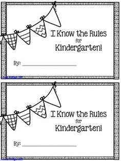 FREEBIE! I Know the Rules for Kindergarten! {Mini-Book}