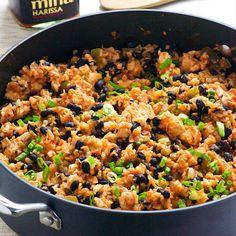 Chicken, Cauliflower Rice and Beans