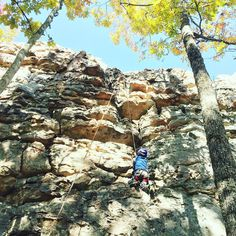 Little man and I went craggin today! #climbing #optoutside