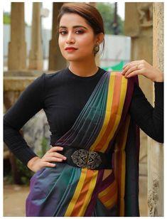 Saree Wearing Styles, Saree Styles, Kurta Designs, Lehenga Designs Latest, Chudidhar Designs, New Saree Designs, Indian Fashion Dresses, Indian Outfits, Fashion Outfits
