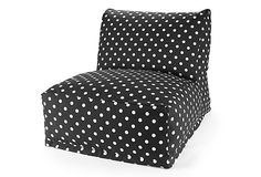 Beanbag Chair, Black on OneKingsLane.com
