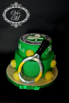 Tennis cake - Cake by Victoria Mkhitaryan Cakes&Desserts Tennis Cupcakes, Tennis Cake, Tennis Party, Sports Birthday Cakes, 60th Birthday, Tennis Decorations, Sport Cakes, No Bake Desserts, Party Gifts