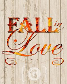Fall In Love Autumn Printable from Spilled Glitter
