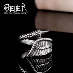 Cheap stainless steel ring, Buy Quality steel ring directly from China fashion rings Suppliers: Beier new store Stainless Steel ring high quality for women and men dragon claw fashion jewelry US size Cute Jewelry, Body Jewelry, Jewelry Rings, Women Jewelry, Steel Jewelry, Silver Jewelry, Coin Pendant Necklace, Shell Pendant, Halo Diamond Engagement Ring