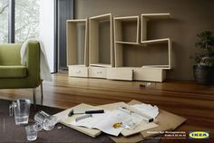 IKEA Assembly Service - We've all been there before, sweat dripping from our foreheads as we try to decipher the instructions of assembly-required furniture. The IKEA Asse. Ikea Furniture, Colorful Furniture, Furniture Design, Furniture Ideas, Furniture Websites, Luxury Furniture, Ikea Ad, Cardboard Chair, Wood