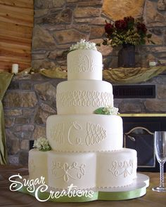 Fall Hydrangea Wedding Cake by RebeccaSutterby, via Flickr