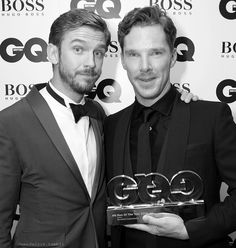 Ben and Dan Stevens - GQ Actor of the Year 2014