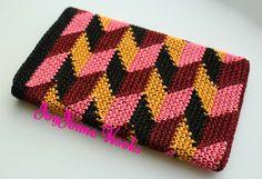 Lovely Tapestry crochet tablet cover