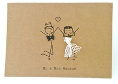 stick men arts and crafts wedding invitations - Buscar con Google