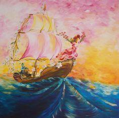 Mutluluğa Yelken / Sailing to Happiness by Özgür Aktı, 76cm x 76cm  #gallerymak #figüratif #aşk #sanat #yelkenli #mutluluk #sanat #akrilik #sanat #ig_sanat #resim #tablo #cagdassanat #modernsanat #finearts #painting #acrylicpainting #love #figurative #figurativeart #artcollector #artgallery #contemporaryart #modernart #artoftheday #colors #renk #sailing #artlovers #arte