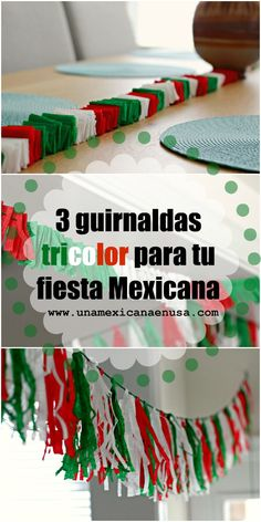 Cmo hacer 3 guirnaldas tricolor para tu Fiesta Mexicana by unamexicanaenusa.com Mexican Independence Day, Independence Day Decoration, Un Diner Presque Parfait, Mexico Party, Mexican Birthday Parties, Clown Party, Bridal Shower Balloons, Italian Party, Fiesta Theme Party