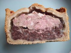english breakfast pie - pork with sausage, smoked bacon and black pudding.  You can make it a full english with addition of egg thru the middle
