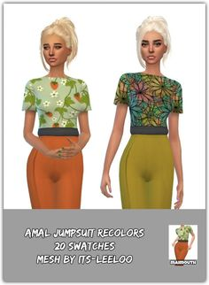 Simsworkshop: Animal Jumpsuit Recolors by Maimouth • Sims 4 Downloads