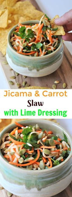 Jicama, carrots, Pab