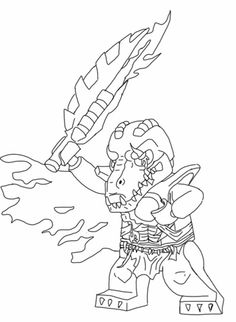 Lego Legend of Chima - Cragger - More coloring pages on the blog.