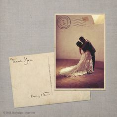 Hey, I found this really awesome Etsy listing at https://www.etsy.com/listing/109423872/wedding-thank-you-card-vintage-postcard