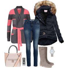 bunda s kozusinou ruzovy sveter