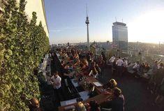 Best Rooftop Bars in Berlin - Thrillist Rooftop Bar Bangkok, Best Rooftop Bars, Sky Bar, Berlin Germany, Dolores Park, Drink, House, Restaurants, Cafes