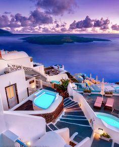 Vacation Travel Guide, An Island Secret: Take A Hike Along Santorini's Famous Caldera! via: christinatouloumtzidou Firostefani Caldera View Beautiful Places To Travel, Best Places To Travel, Vacation Places, Best Vacations, Vacation Destinations, Vacation Trips, Vacation Spots, Cool Places To Visit, Places To Go