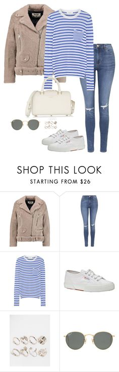 """""""Untitled #2147"""" by andreagm ❤ liked on Polyvore featuring Acne Studios, Topshop, Equipment, Superga, Lipsy, Ray-Ban and Yves Saint Laurent"""