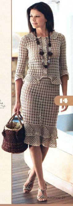 Crochet summer gifts knitting patterns 16 ideas for 2019 Crochet Skirts, Crochet Blouse, Crochet Clothes, Crochet Lace, Crochet Summer, Trendy Fashion, Vintage Fashion, Style Fashion, Trendy Style