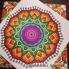 Kleuren voor volwassenen, colouring for adults, coloriage, mandala, artist, stabilo, het enige echte mandalakleurboek om te versturen, markers