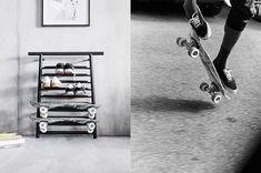Mutasd meg a cipőidet vagy a gördeszkáidat az IKEA SPÄNST cipő/gördeszkatartóval.