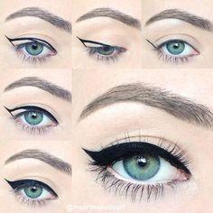 Vingle - Winged Eyeliner Tutorial for Beginners - DIY BEAUTY