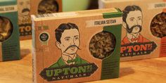 """""""'Upton' was designed by renowned Chicago artist, Johnny Sampson. The packaging, which is made of recycled materials and is itself 100% recyclable and compostable, was designed by our friend Billy at Delicious Design League here in Chicago. Packaging is made of 18-point chipboard, with soy-based inks."""""""