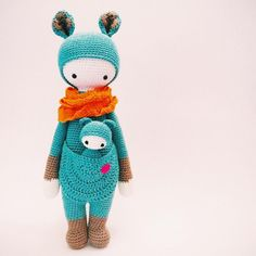 KIRA the kangaroo made by Sade / crochet pattern by lalylala